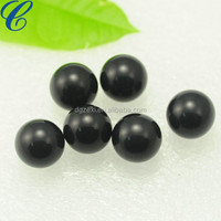 China Dyed Black Cultured Pearls Half-drilled Button Loose Pearls