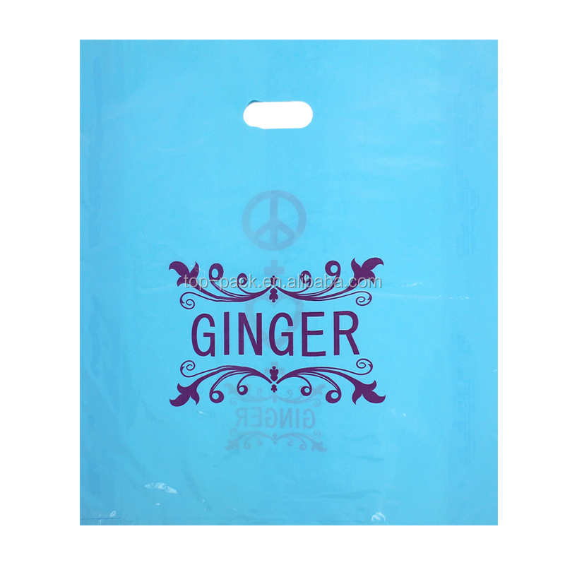OEM custom cheap retail promotional blue clothes bag