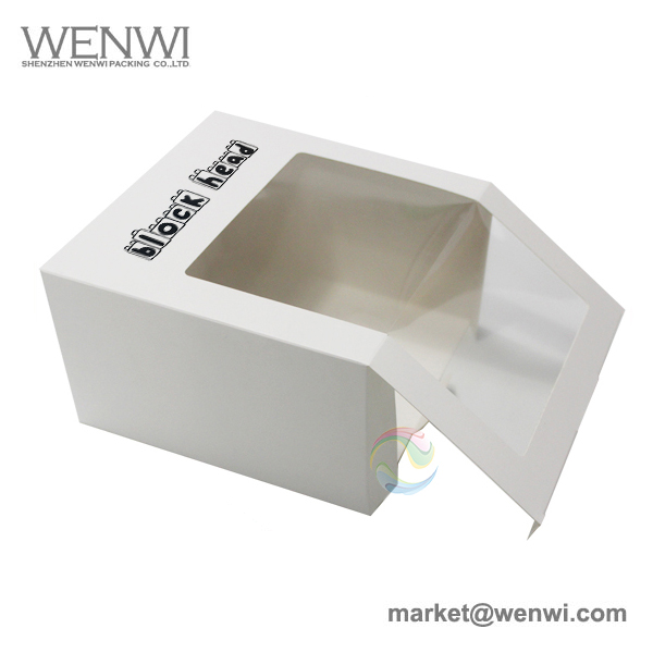 Wholesale Cheap Clear Plastic Window White UK Baseball Hat Boxes for Sale
