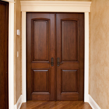 Nice Design Glass Strip Entry Interior Front Wooden Door Price In