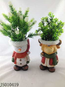 Christmas Flower Pots.Terracotta Snowman And Christmas Deer Flower Pots Funny Christmas Planter Buy Terracotta Snowman Deer Flower Pot Funny Christmas Product On