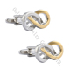 NEW fashion wholesale men cufflinks accessory infinity design cuff links shrink ring double ring classic cufflink