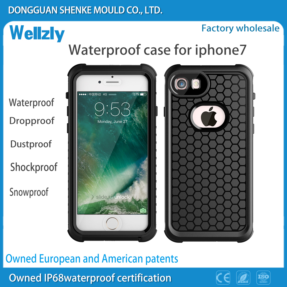 New Waterproof Phone Case For iphone7, For iphone 7 Waterproof Case Cover