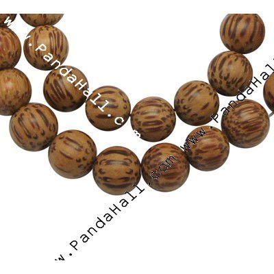 "Natural Wood Beads, Round, Brown, Size: about 10mm in diameter, hole: 1mm, 41 pcs/strand, 16""(WOOD-HL-MT0098)"