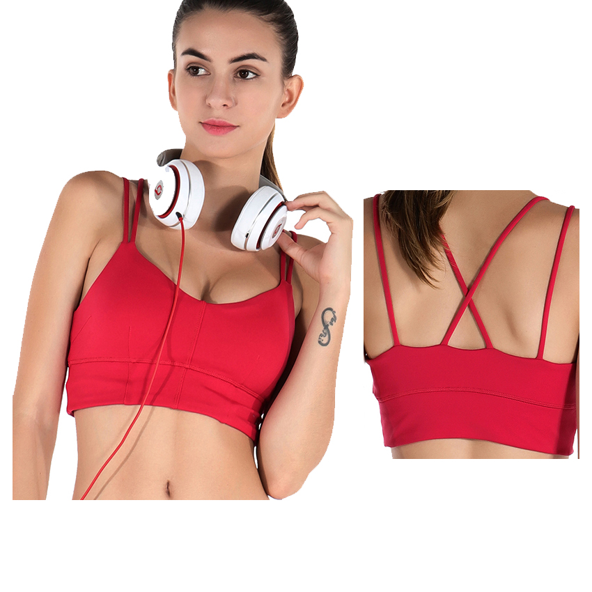 68f70ecf802 2017 hot selling bright red custom sports womens fitness inner wears bra  for gym fitness