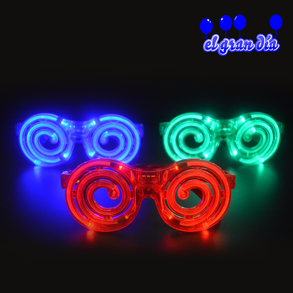 LED Spiral Glasses Mosquito Coil Glasses Halloween Christmas Party Decoration