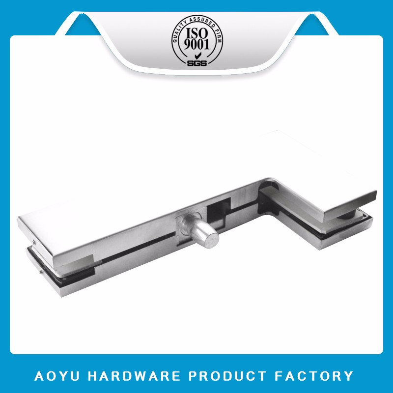 Frameless Glass Fittings Upper Stainless Steel Clamping Pivot Patch