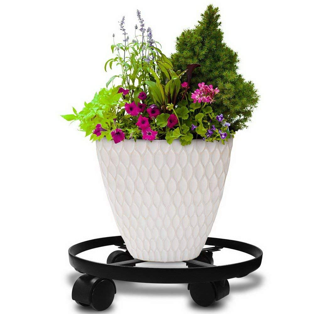 Plant Caddy. Combine This Rolling Stand with Decorative Flower Pot or Planter to Decorate Your Garden, Deck, Patio, Home & Poolside. Heavy Duty Wheeled Dolly Is For Outdoor & Indoor