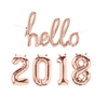 Hello 2018 Number And Letter Helium Foil Party Balloons