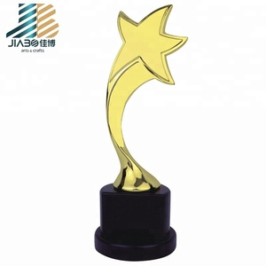 factory custom metal star trophy, metal trophy cup large thumbs up trophy