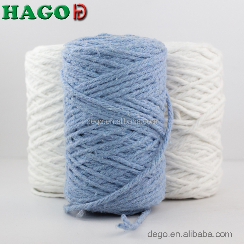 Ne0.5s 4 ply open end recycled regenerated blended cotton mop yarn for rope mops wholesale