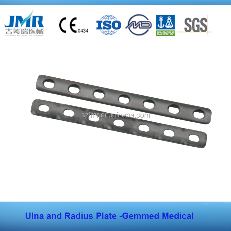 Ulna and radius plate orthopedic implant trauma bone plate screws orthopedic screw plate