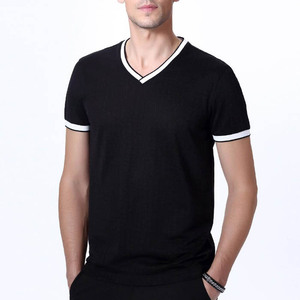 Fancy v-neck plain black dri-fit t-shirt for men