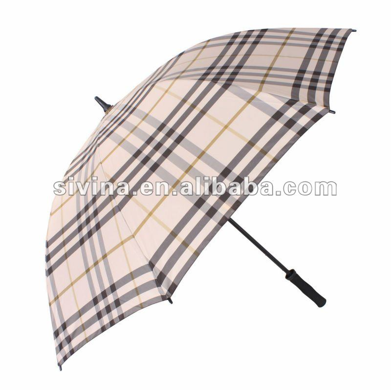 30 Inches Beautiful Ladies Manual Open Golf Big Umbrella Outdoor Umbrella With Umbrella Hole