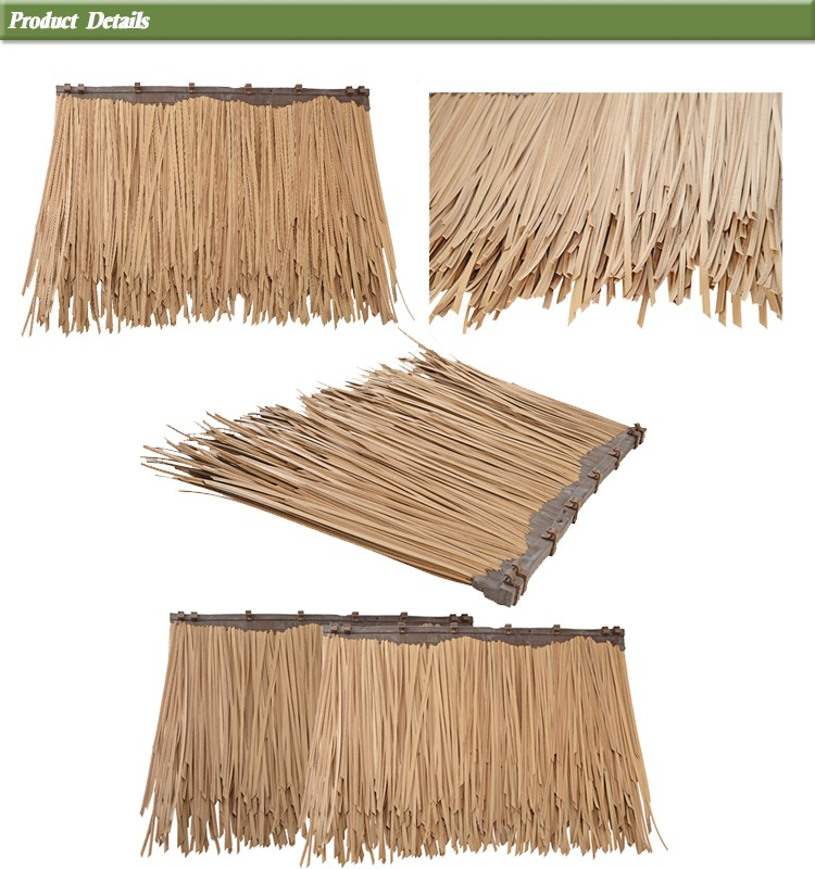 Artificial Straw Roof Covering Flexibility Plastic Thatch