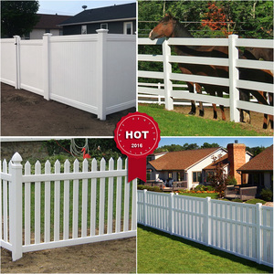 Fentech Factory Supply UV Proof Virgin PVC Material Easily Assembled Vinyl Fence