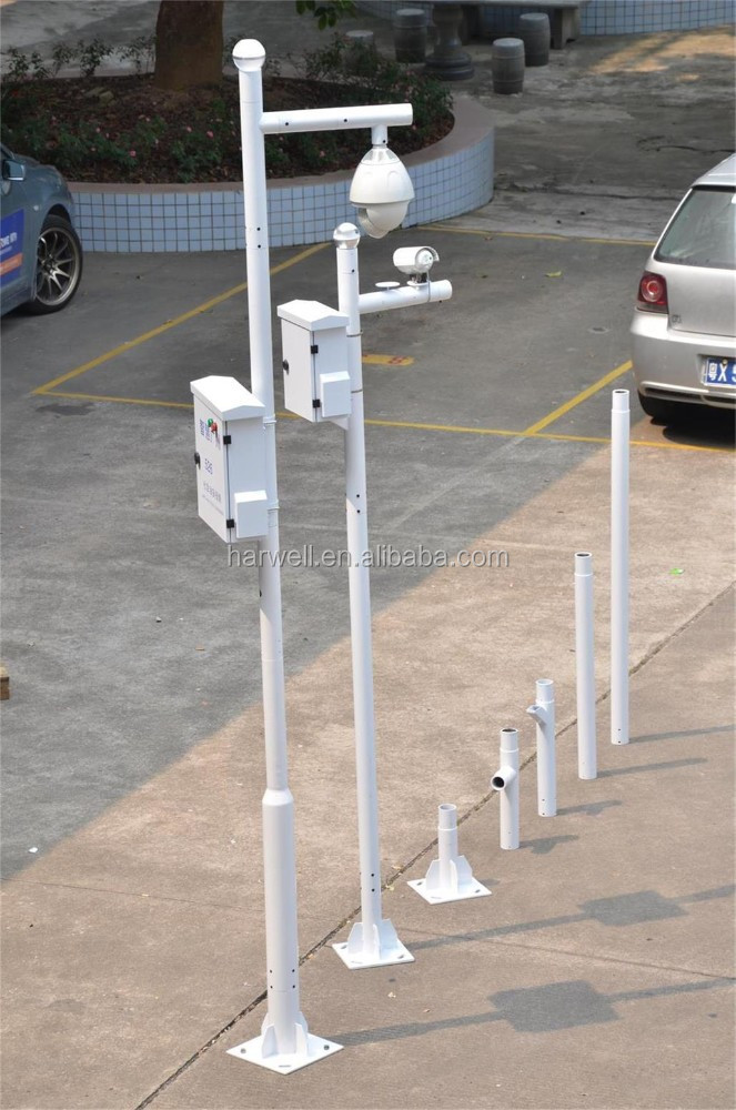 Harwell security monitoring CCTV camera mounted pole,galvanized steel pole