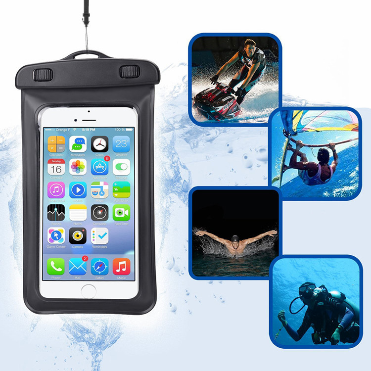 Hot Koop Universal Water Proof PVC Mobiele Telefoon Gevallen Clear Pouch Waterdichte Tas, water Proof Cell Phone Bag Met Lanyard