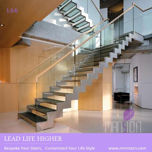 Personalizado doble larguero mejor precio vidrio escaleras for Precio de escaleras extensibles