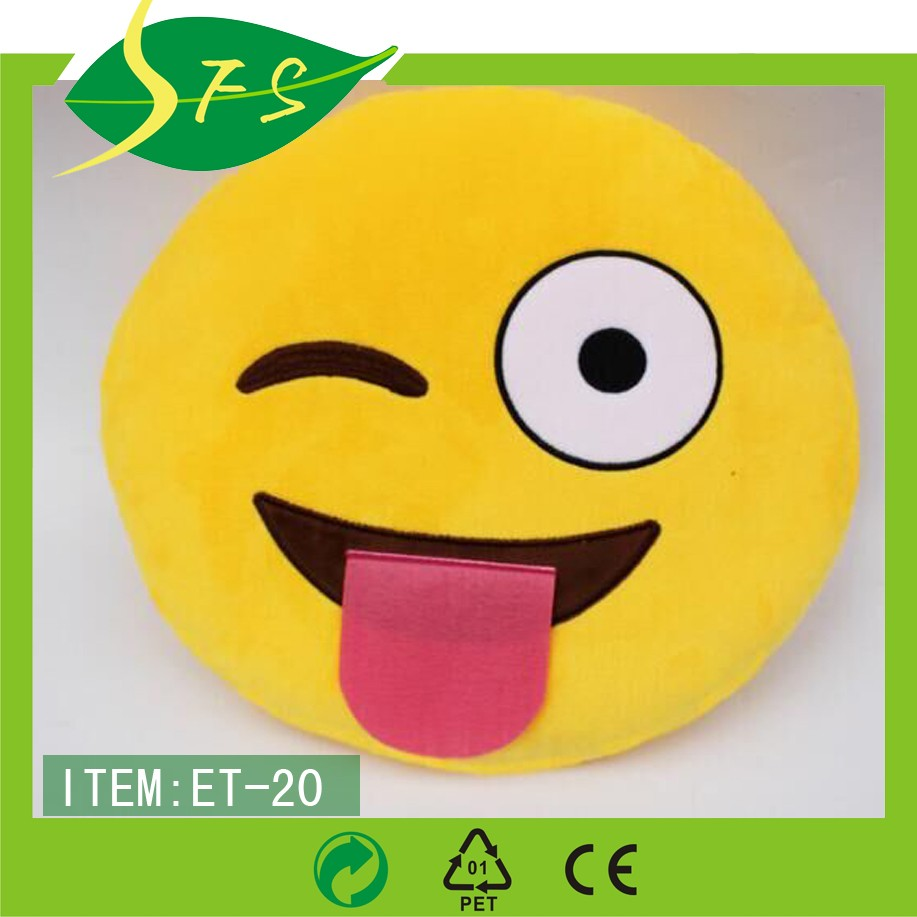 New Product Pp Custom Whatsapp Emoji Pillow Cute Smiley