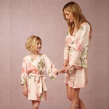 nouveau style 88d9d e86b3 New Customized Kimono Silk Robe De Mariage For Bridesmaid And Flower Girl -  Buy Robe,Silk Robe,Robe De Mariage Product on Alibaba.com
