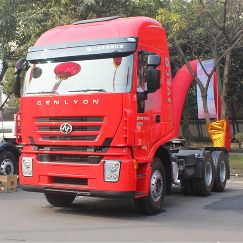 Cina heavy duty Genlyon trattore camion 6x4 camion Iveco hongyan 380hp testa