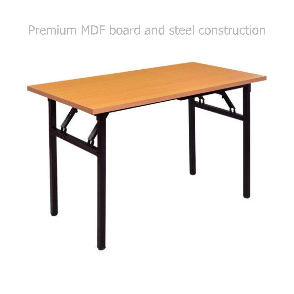 Modern Folding Table Laptop Computer Writing Multi-function Desk Durable MDF Board Powder Coated Steel Frame Home Office Furniture #1685