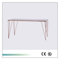 Glass Top Rectangle Kitchen Table Simple High Quality Design