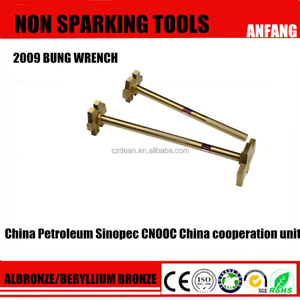 Spark Proof Copper Alloy Bung Wrench ,Open Barrel /Drum Bucket Spanner Single /Double Head
