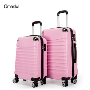 custom design 2pcs set 20 24 inch 4 spinner wheels cheap abs pc aluminum trolley luggage