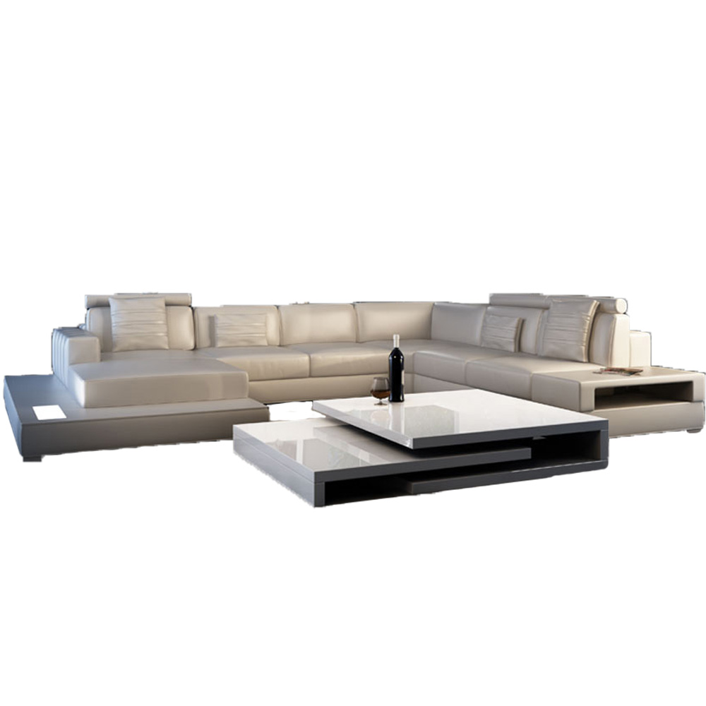 Italian Leather Sectional Sofa Modern