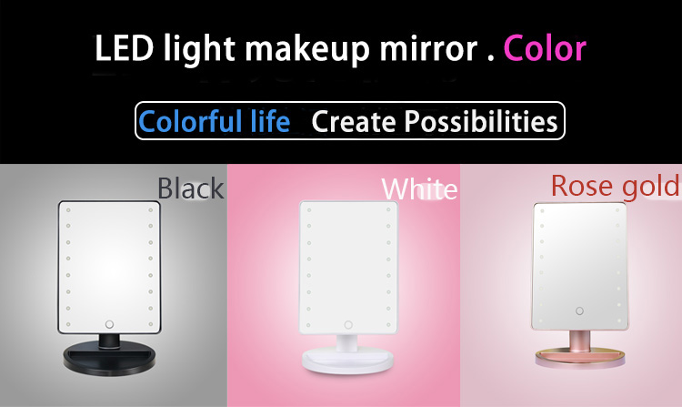 New Products Makeup Tools Touch Screen Led Light Make Up Mirror Factory