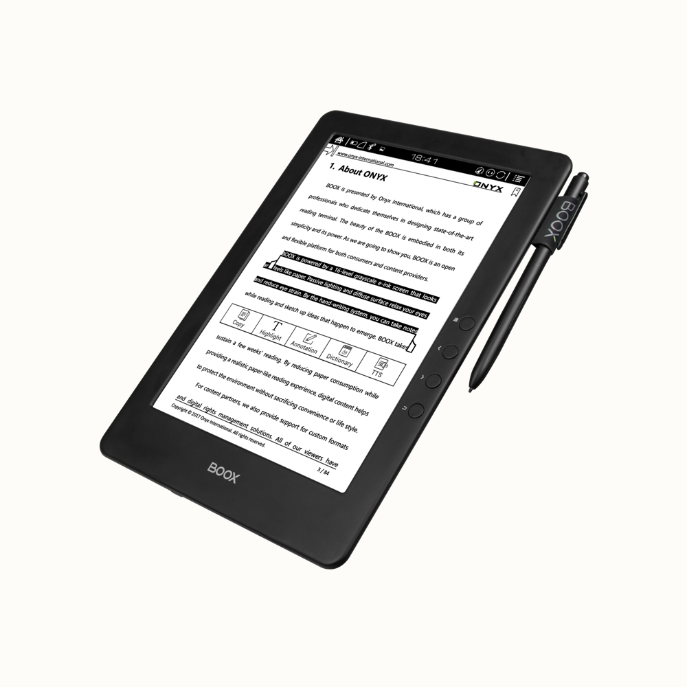 most popular 9.7 inch big size e reader with high resolution the best device for ebooks