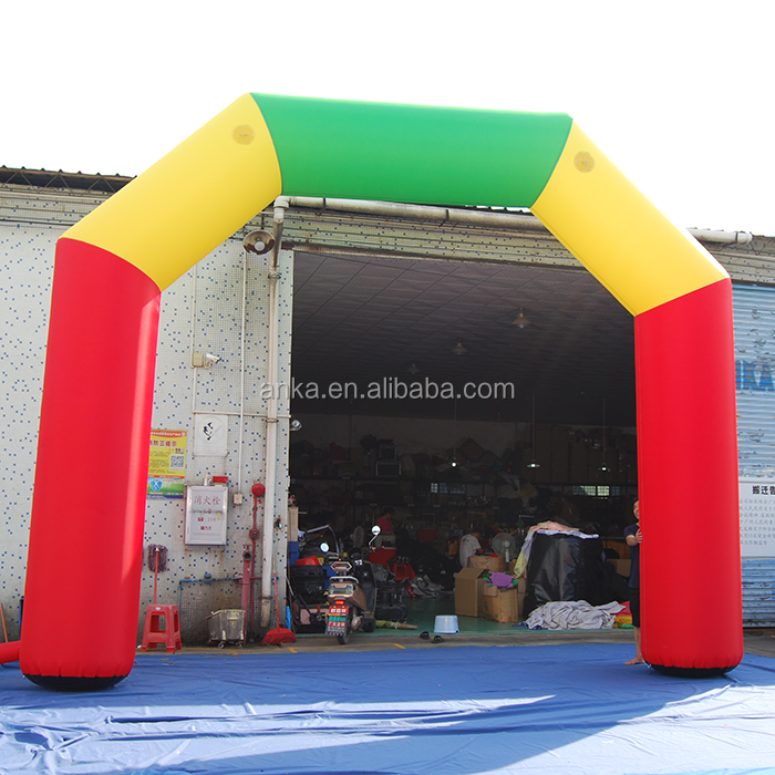 8*4m waterproof Oxford cloth inflatable arch finish line for decoration