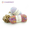 Factory supply polyester boucle yarn sale with multiple color fancy boucle yarn
