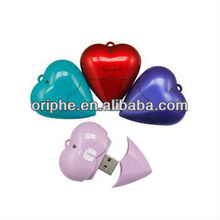 Valentine's Day gift usb flash drive,heart-shaped flash drive usb