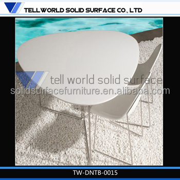 Modern Restaurant furniture marble top stainless steel leg small restaurant dining table