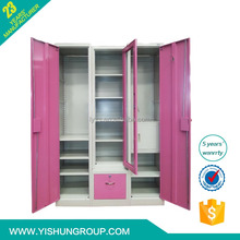 Hot sell durable steel metal assemble wardrobe closet storage for bedroom
