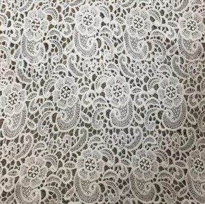 Chemical Polyester White Water Soluble Lace Fabric Embroidery