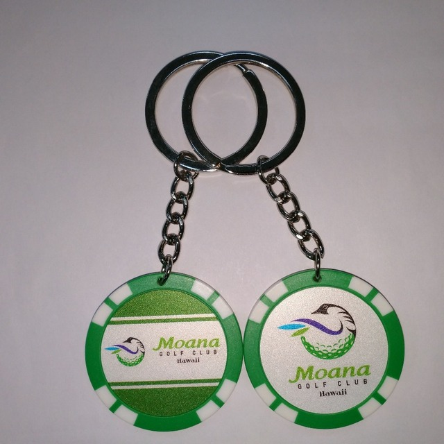 blank casino chips keychain with sticker