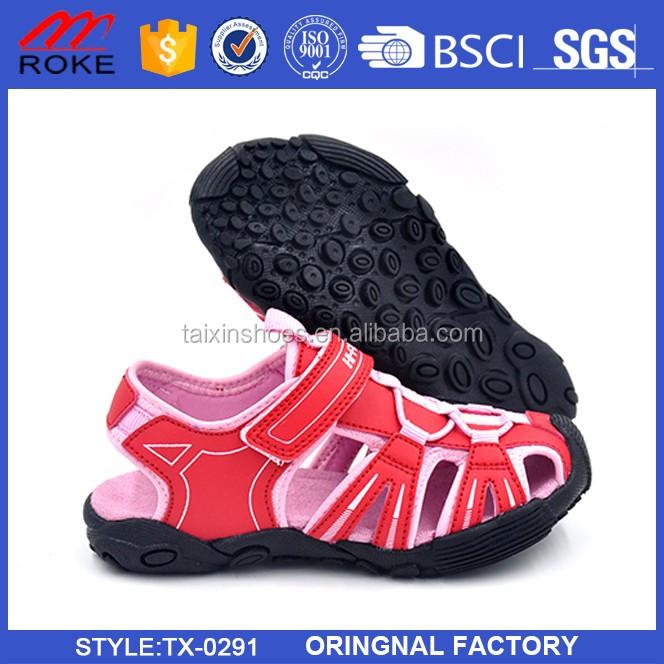 Outdoor safe beach sandal shoes lace adjustable childrens sport sandals