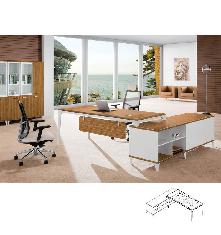 Modern Design Unique Tall White High Gloss Office Desk