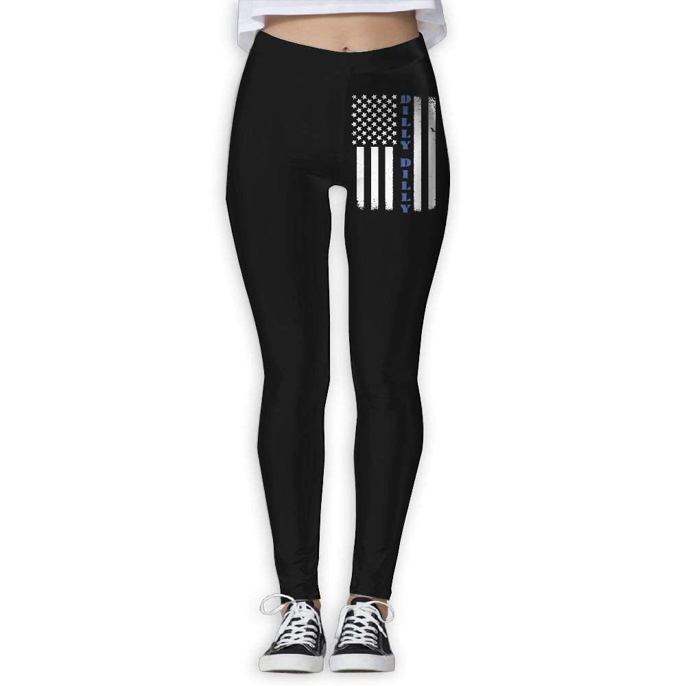 DDCYOGA Dilly Dilly American Flag Womens Tights Activewear Yoga Pants Exercise Gym Jogger Pants For Women