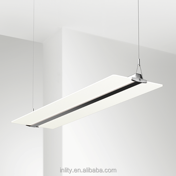 54w led fluorescent office ceiling light fixture suspended mounted 54w led fluorescent office ceiling light fixture suspended mounted totally clear lgp panel light mozeypictures Gallery