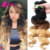 9A Blonde Weave Bundles 1B/4/27 Cheap Ombre Brazilian Hair Body Wave 3 Pcs/Lot