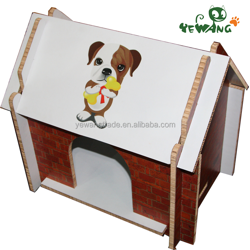 The corrugated cardboard pet product of indoor cat house