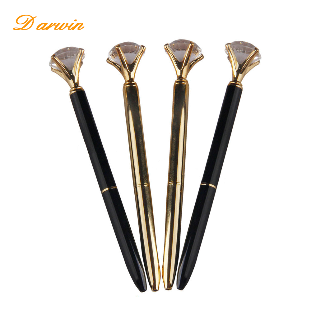 Luxury Crystal Wedding Favors Pens Promotional Big Diamond Ball Pens ...