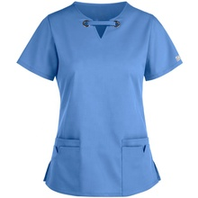 Donne di Grandi Dimensioni Anello di Tenuta Stretch Scrubs <span class=keywords><strong>Top</strong></span> Per Scrubs Medico