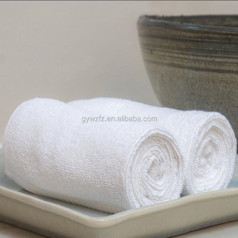 Disposable Cotton Terry cloth Soft Rolled 5 star Hotel bathroom hand towels