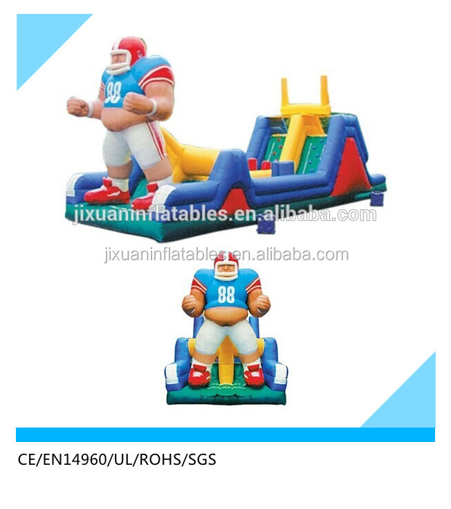 NFL sport player juegos inflables /giant adult inflatable slide